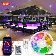 Bande lumineuse RGB LED intelligente, 12V, Flexible, fonctionne avec Alexa Google Home, commande vocale, SMD 5050