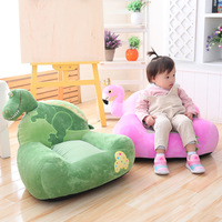Cute Soft Child Sofa Cartoon Animal Dinosaur Flamingo Sofa Chair Plush Toy Sleeping Comfort Pillow Cushion Stuffed Toy Baby Seat