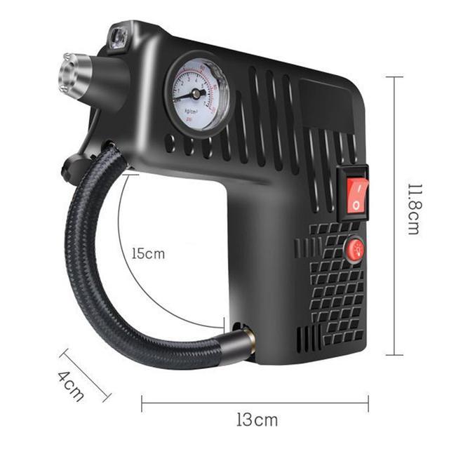Compresseur dair électrique Portable pour voiture, pompe de gonflage de pneus, éclairage LED 12V, buse polyvalente, pression, accessoires de voiture