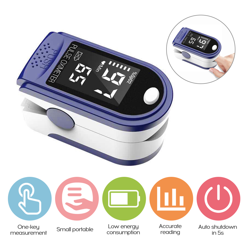Portable Professional Fingertip Oximetro LED Display Blood Oxygen Pulse Rate Monitor For Family Travel