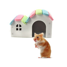 Hamsters Nest House Loft Bed Cage Nest Pet Castle Self Assembly Pet House(China)