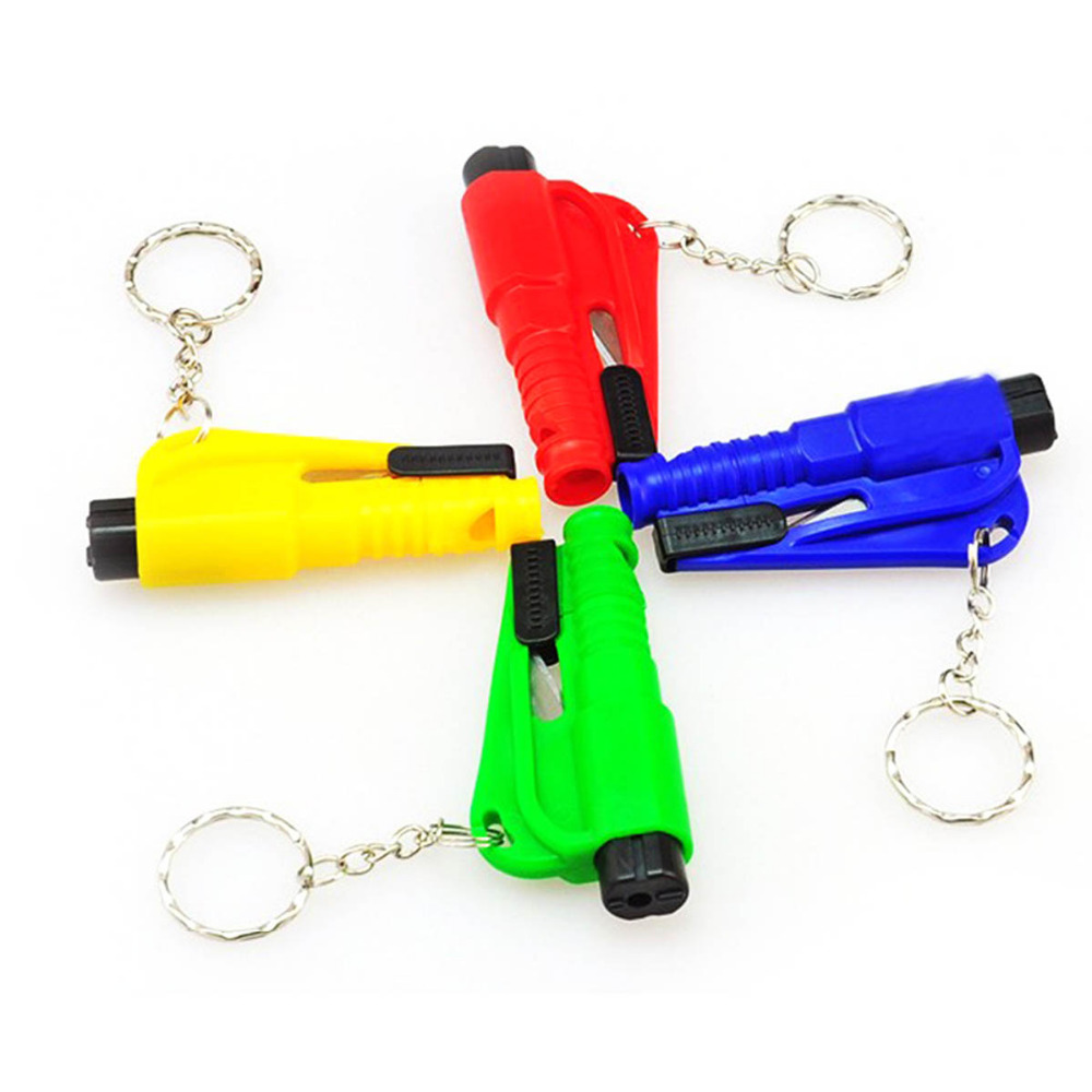 Colorful Car Life-saving Emergency  Escape Tool Mini Safety Hammer Auto Car Window Glass Breaker Seat Belt Cutter Rescue Hammer