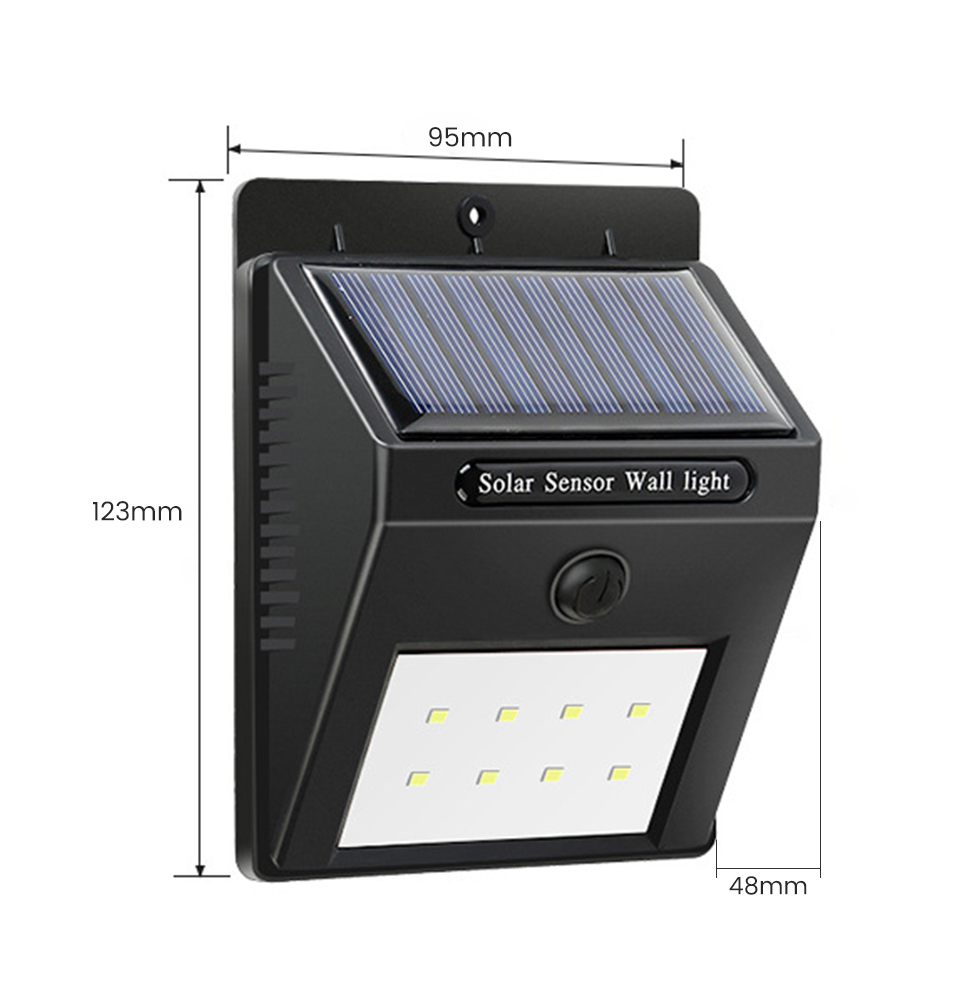 SUNYIMA Waterproof and Wall Mounted Outdoor Solar Lamp with 30 LED with PIR Motion Sensor 8