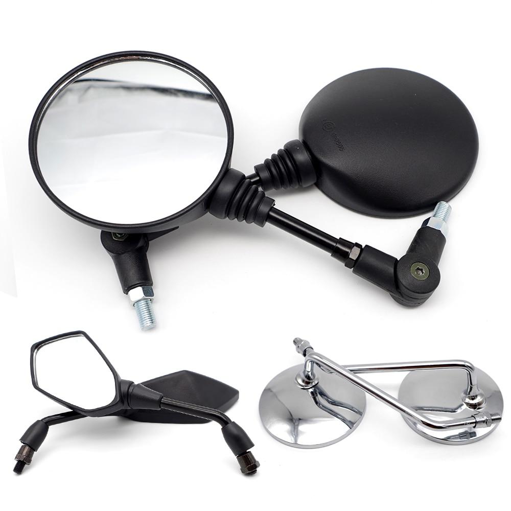 Universal motorcycle rearview mirror For yamaha virago 535 suzuki skywave 400 benelli trk502 ktm 990 adventure moto accessories|Side Mirrors & Accessories| |  - title=