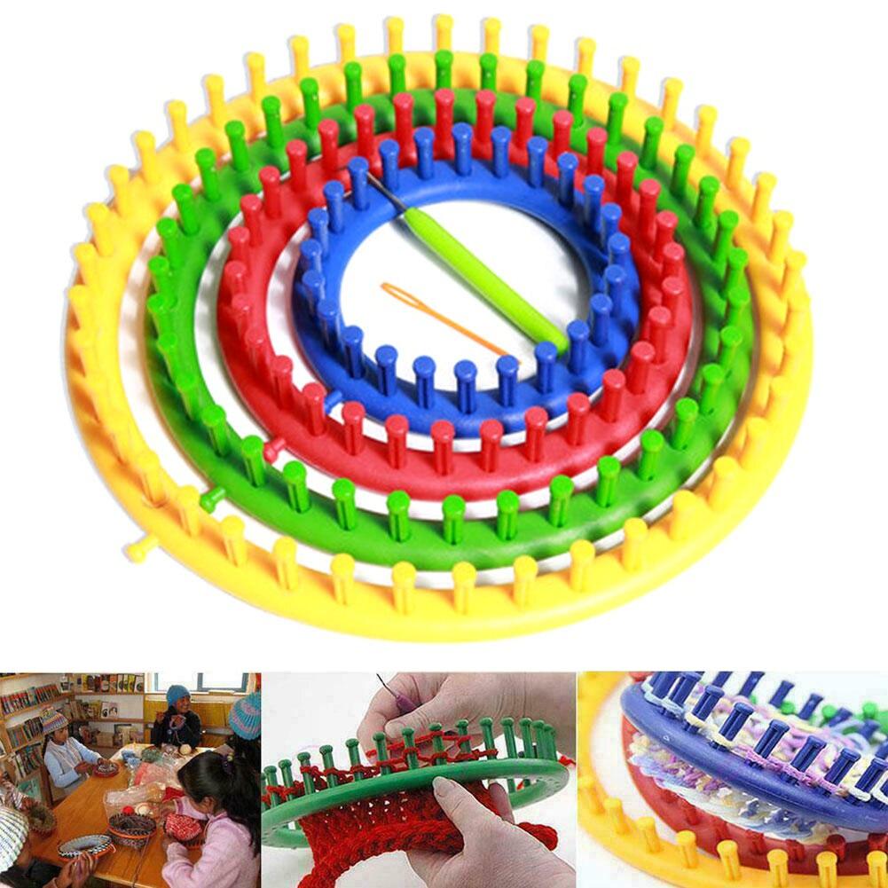 Knitting Looms Handmade Sewing Round Scarf Circular Sock Home Suture Needle PP Manual Craft Tool DIY Circle