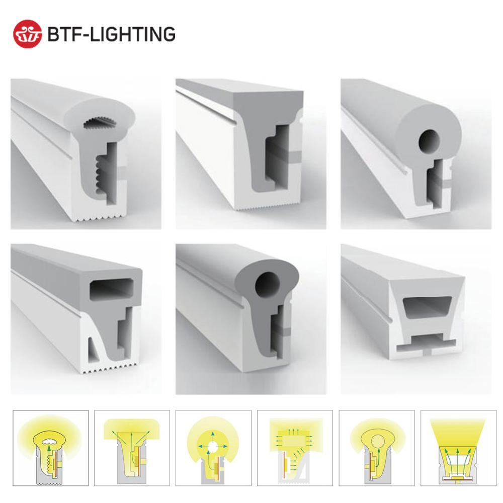 WS2812B WS2811 LED Neon Seil Rohr Silica Gel 1m 2m 3m 4m 5m Flexible Streifen licht Weichen Lampe Rohr IP67 Wasserdicht für Dekoration