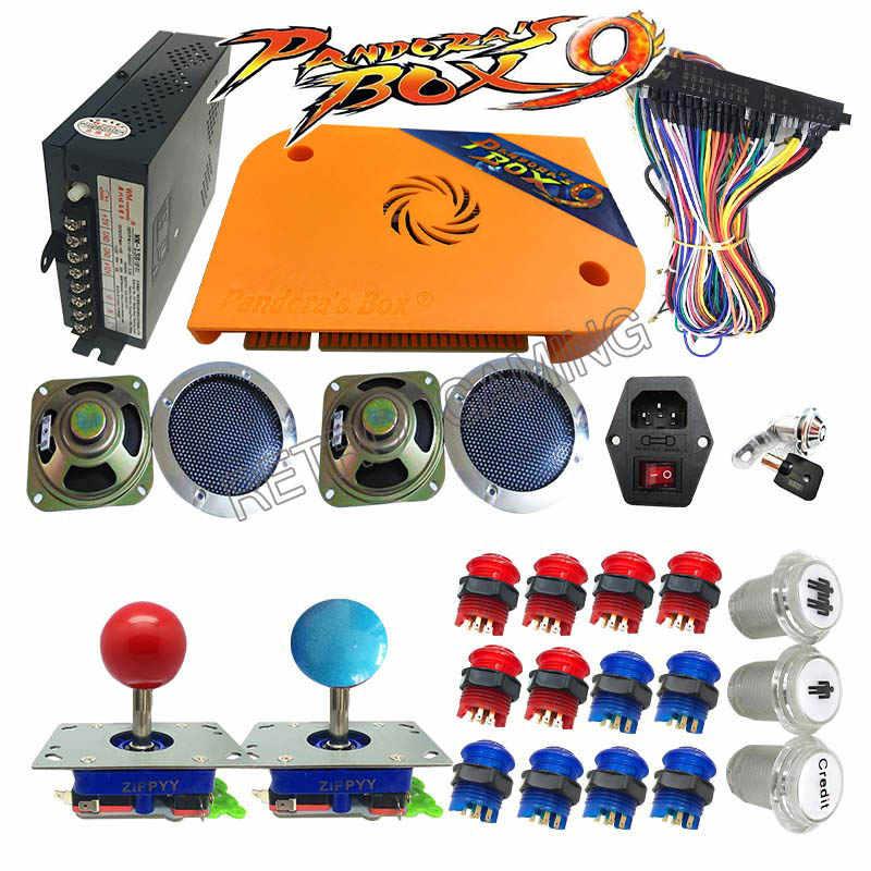 판도라 상자 9 아케이드 키트 jamma board 1500 in 1 LED 버튼 조이스틱 버튼 전원 공급 장치 DIY 게임 캐비닛 기계