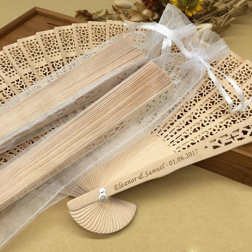 Ручной вентилятор деревянные, на выбор Свадебные сувениры и подарок для гостей сандаловое дерево ручные вентиляторы Свадебные украшения ручной складывающий вентилятор - 5