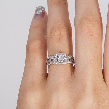 Natural 0.5 carat 14k White Gold Diamond Engagement Ring  6
