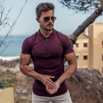 Casual streetwear brand men #8217 s T-shirt 2020 summer fashion short-sleeved shirt jogger fitness sportswear fashion men #8217 s clothing tanie i dobre opinie UABRAV Pasuje prawda na wymiar weź swój normalny rozmiar Oddychająca