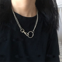 Choker Necklace Jewelry Circle-Pendants Collier Girlfriend Gift Simple-Chains Cutout