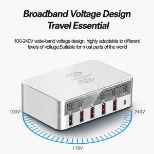 Image 2 - 6 منافذ لاسلكية سريعة تهمة 3.0 USB وحدة شاحن QC 3.0 شحن سريع USB مهايئ شاحن آيفون سامسونج شاومي هواوي