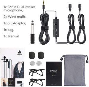 Image 5 - Микрофон MAONO, петличный конденсаторный микрофон с клипсой для камеры, DSLR, телефона, ПК, ноутбука