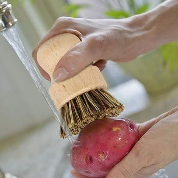 Kitchen Brush Heads 5 Pcs Scrub Brush Plant Based Cleaning Brush Set Dish Vegetable Cleaning Bathroom Kitchen Cleaning Tools Set 5