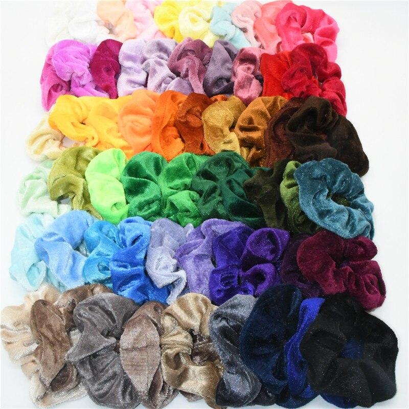 Korea Velvet Hair Scrunchie Elastic Hair Rubber Bands Women Girls Headwear Hair Ring Ponytail Holder Hair Accessories