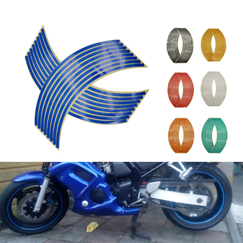 Motorcycle Wheel Sticker 3D Reflective Rim Tape Auto Decals Strips For Kawasaki KX 125 250 450 F 100 KLX 125 250 KDX 125 250 image