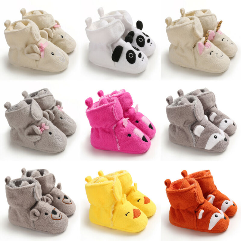 New Arrival Winter Toddler Baby Boy Girl Warm Snow Boots Infant Soft Sole Crib Shoes Booties 0-18M