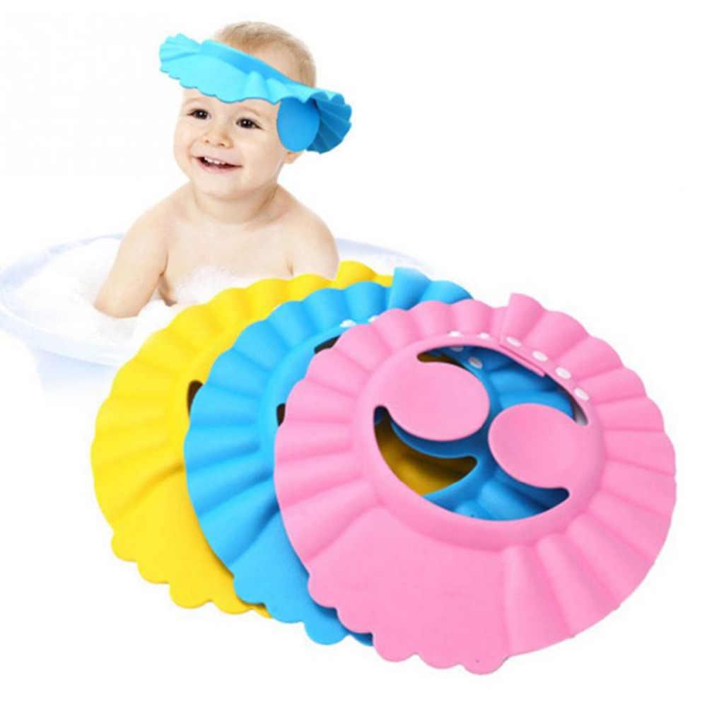 2018 מתכוונן תינוק כובע שמפו בטוח רחצה שיער כובע הגנת אמבט שווי לילדים שווי בייבי לפעוטות ילדים לשטוף שיער