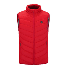 Men Women Outdoor USB Infrared Heating Vest Jacket Winter Flexible Electric Thermal Cloth Waistcoat Fish Hiking Euro Size XS-4XL cheap Mazerout Polyester Fits true to size take your normal size None Black Blue Red
