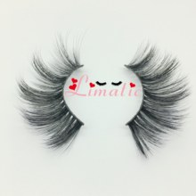 25mm Synthetic Fake Lashes Customized Own Logo Faux Mink Eyelashes Vendor Makeup Tools Fluffy(China)