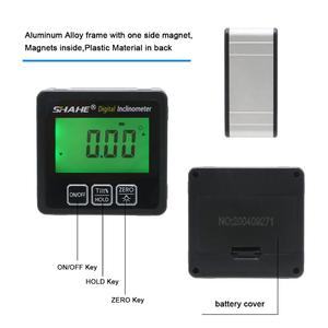 Image 4 - SHAHE Aluminum alloy Digital Protractor Inclinometer Level box Digital Angle Finder Bevel Box with Bottom built in magnet