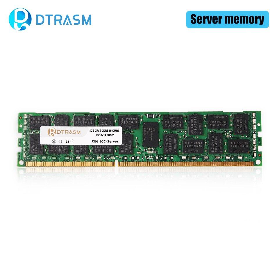 DTRASM DDR3 4 ГБ 8 ГБ 16 ГБ REG ECC Серверная память 1333 МГц 1600 МГц 1866 МГц dimm REG ram поддержка X58 X79 материнская плата