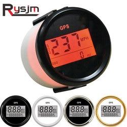 52mm Digital GPS Speedometer Odometer 0~999 Knots MPH Km/h GPS Speed Gauge 12V/24V with Backlight for bmw e39 Motor Car Boat