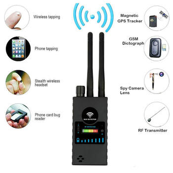Dual Antenna Anti-Spy GPS Magnetic Wireless Mini Camera Detector Signal Automatic Finder racker Frequency Scan Sweeper Protect