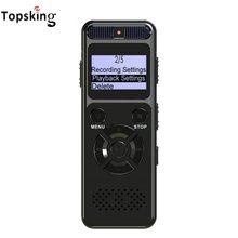 Mini gravador de voz digital gravação de longo tempo de voz ativada por voz ditafone usb drive gravador de voz suporta até 64g cartão tf
