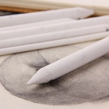 free shipping 3/6Pcs white Double Head Durable Art Drawing Tool Pastel New Blending Smudge Escolar Sketching Paper Pencil pen