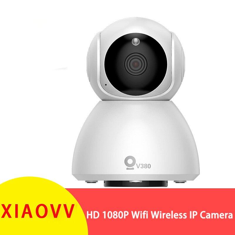 Xiaovv Q8 HD 1080P 360° Panoramic IP Infrared Night Vision AI Detection Machine Panoramic Camera Baby Sleeping Monitors