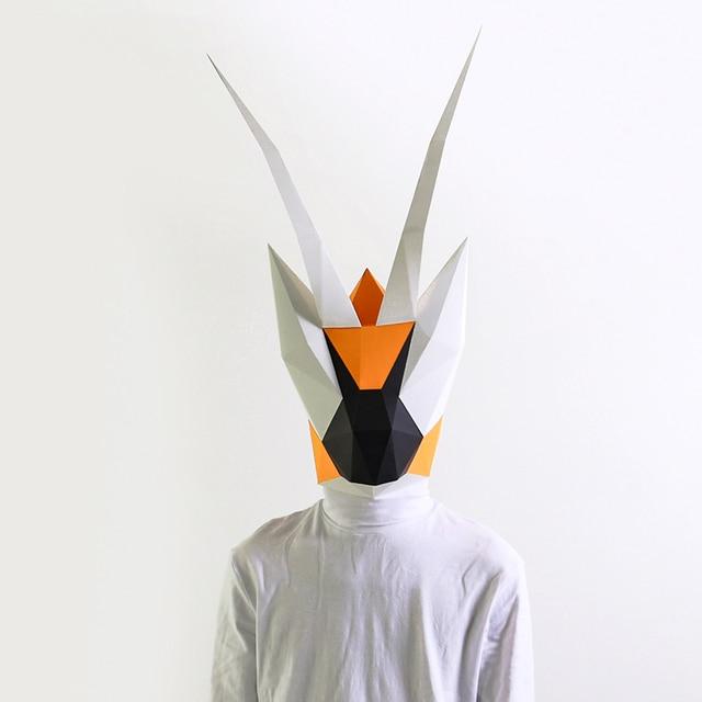 מסכת ראש אוריגמי - גמל שלמה 1