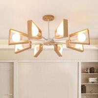 LED Modern Black White Chandelier Lighting E27 Adjustable Chandeliers For Living Room Bedroom kitchen Pendant Lamps Fixtures