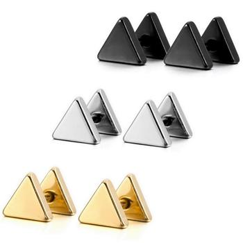 Showing Simple Punk Round Triangle Bar Geometric Stud Earrings Women Mens Stainless Steel Ear Jewelry 3.jpg 350x350 - Showing Simple Punk Round Triangle Bar Geometric Stud Earrings Women Mens Stainless Steel Ear Jewelry 3 Pairs/Pack Fashion Black