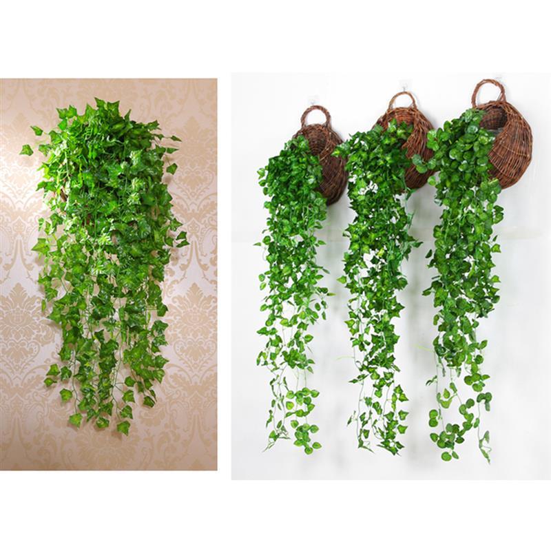Гирлянда из искусственного плюща 35,4 дюйма 90 см, Реалистичный искусственный подвесной плющ, подвесное растение, лоза для дома, сада, украшени...