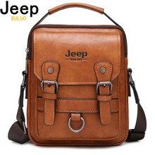 Jeep buluo marca novo homem crossbody bolsa de ombro multi função bolsas masculinas grande capacidade split bolsa de couro para o homem viagem
