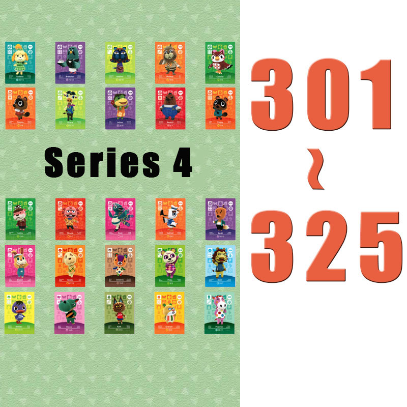 (301 To 325) Animal Crossing Card Amiibo Printed NFC Card Compatible Pick From The List