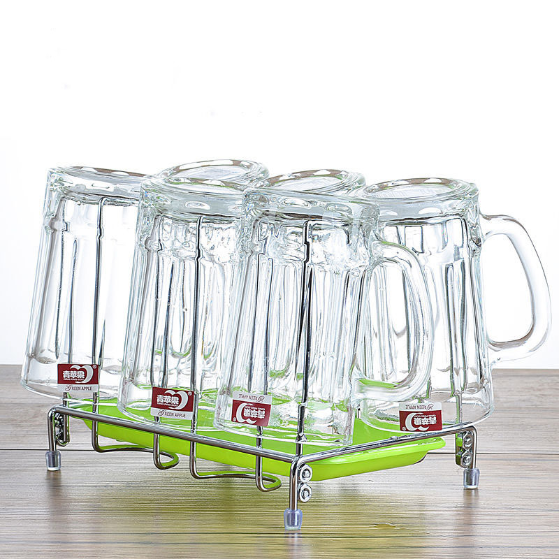 Glass Cup Household Set Cup Large Beer Mug Tie Beer Thick Heat resistant Belt To Tea Cup Wine Glasses Shot Glass Glasses