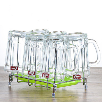 Glass Cup Household Set Cup Large Beer Mug Tie Beer Thick Heat-resistant Belt To Tea Cup Wine Glasses  Shot Glass  Glasses