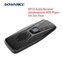 AOSHIKE Freisprecheinrichtung Bluetooth Car Kit Wireless Audio Receiver Sonnenblende BT 5,0 Hände Frei für Anruf Freisprecheinrichtung MP3 Player
