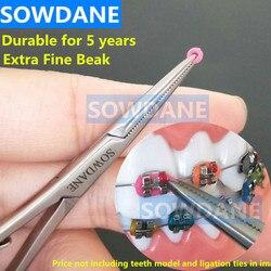 Dental ortodôntico oral mathieu colocação elástica ligação anel gravata titular 14cm bico extra fino ferramenta de laboratório dental