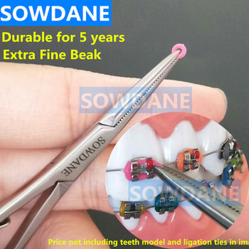 Oral Dental Orthodontic Mathieu Elastic Placement Ligation Ring Ligature Tie Holder 14cm Extra Fine Beak Dental Laboratory Tool