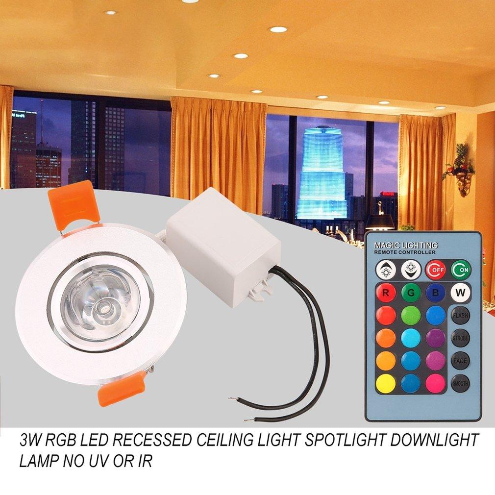Waka 3w Rgb Led Recessed Ceiling Light Spotlight Downlight Lamp No Uv Or Ir Light Radiation Easy To Install And Operation Led Spotlights Aliexpress