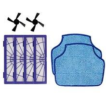 4 PIÈCES Filtre Hepa et 2 PIÈCES Brosse Latérale et 2 PIÈCES tissu de nettoyage pour Neato Botvac D3 D4 D5 D6 D7 D70 D75 D80 D85 Connecté Botvac 75e