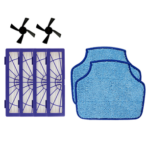 Image 1 - 4PCS Hepa Filter & 2PCS Side Brush & 2PCS mopping cloth for Neato Botvac D3 D4 D5 D6 D7 D70 D75 D80 D85 Connected Botvac 75e