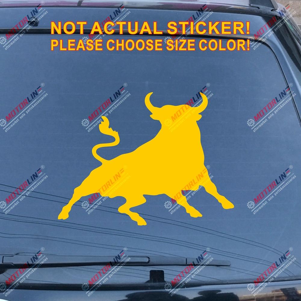 Spanish Bull Decal Sticker Espana Spain Car Vinyl pick size color die cut