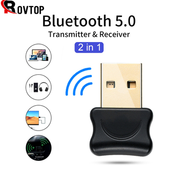 USB Bluetooth 5.0 Transmitter Bluetooth Audio Receiver Wireless Transmitter Dongle Adapter AUX Auto for Computer PC Laptop 1