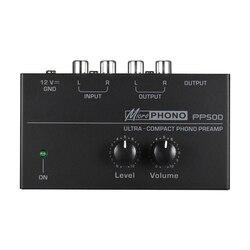 Pp500 ultra kompaktowy przedwzmacniacz przedwzmacniacza Phono z regulacją poziomu i głośności wejście rca i wyjście 1/4 Cal interfejsy wyjściowe Trs  ue w Układy scalone wzmacniaczy operacyjnych od Elektronika użytkowa na