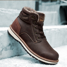 Men Boots Anti-Skidding Leather Shoes Winter Autumn