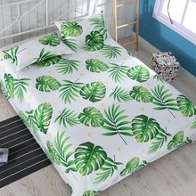 Hot Sale Floral Birds Bed Sheet 100% Cotton Mattress Protector Cover Flat 1pcs sheet + 2pcs Pillow covers 2019